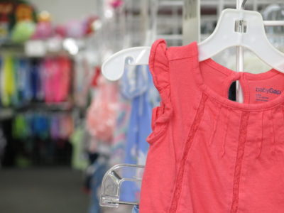 Trendy Kids Clothes on Rack