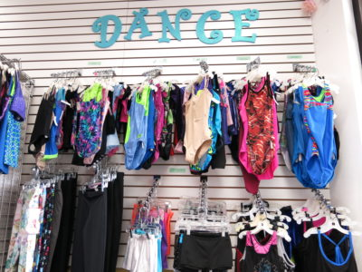 Dance Outfits on Shelf